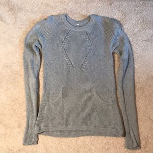 Gray Lululemon cable knit sweater